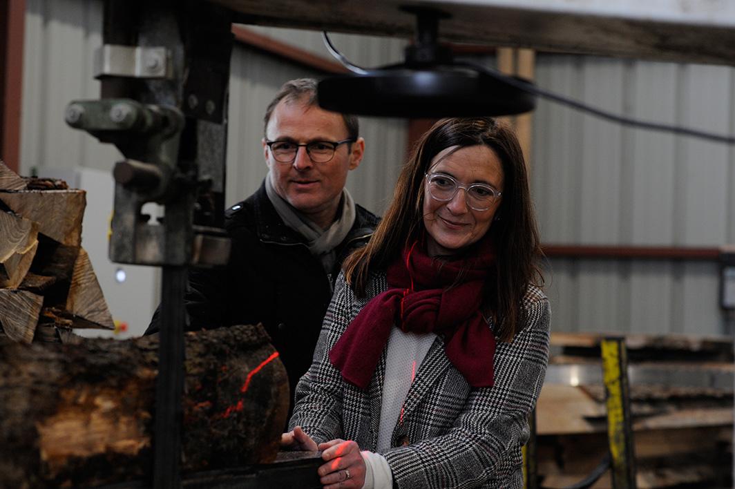 Peggy et Albin Martinot : Découpe des merrains